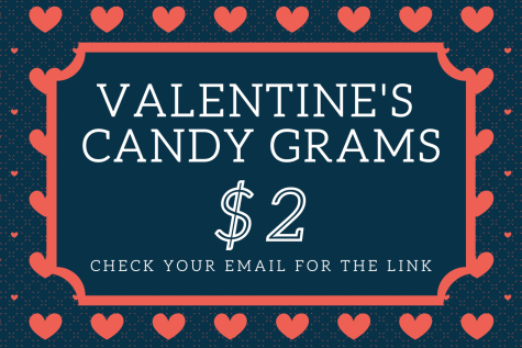 "The class of 2021 senior class officers are using all money from the candy grams to help make-up for lost funds from the lack of prom last year. ""We will pass the candy grams out during homeroom February 11, which is a Thursday,"" Sharber said. ""If for some reason somebody"