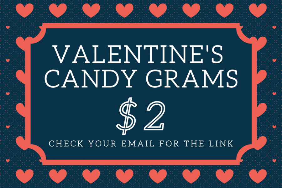 The class of 2021 senior class officers are using all money from the candy grams to help make up for lost funds from the lack of prom last year.