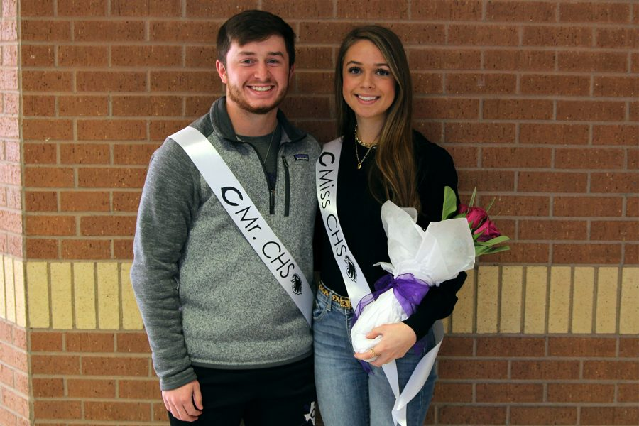 Seniors Brody Cook and Sadie Boyles were announced as Mr. and Miss CHS Friday, Feb. 5 during homeroom. As a Canyon High tradition, only seniors are considered for the title. The runner-up contenders for Mr. CHS were Rafe Butcher, Jay DeFoor and Jett Meek. The runner-ups for Miss CHS were Raylee Bain, Kyla Cobb and Kenadee Winfrey.