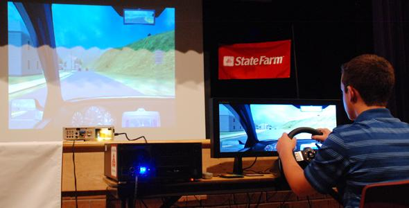 Distracted driving simulator now available to students
