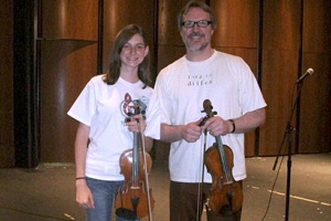 Freshman fiddles her way to scholarship funds