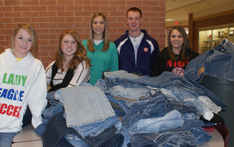 Students collect donated pants for local charities