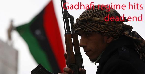 Gadhafi regime hits dead end