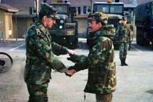 Jingle bells, shotgun shells: Senior, family moves to military bases worldwide