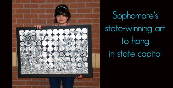 Sophomore wins state art contest, Gold Seal award
