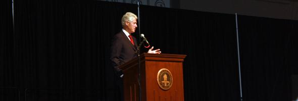 Former President Bill Clinton Speaks at First United Bank Center
