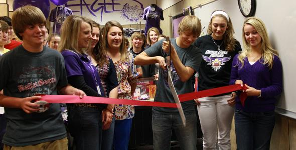 Business students open school store Tuesday