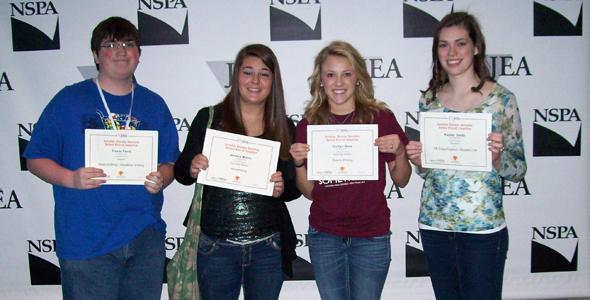 Journalism students win national writing, design awards