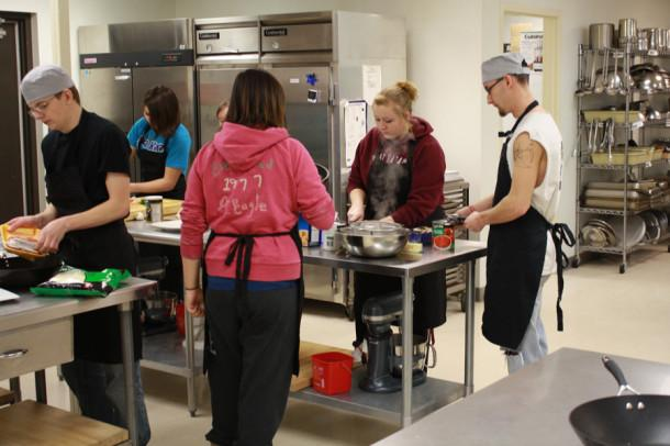 Culinary Arts students compete in the Quick Fire Challenge Feb. 22.