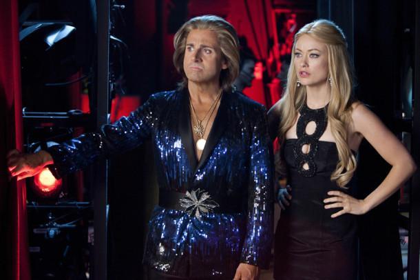 Steve Carell, left, and Olivia Wilde star in