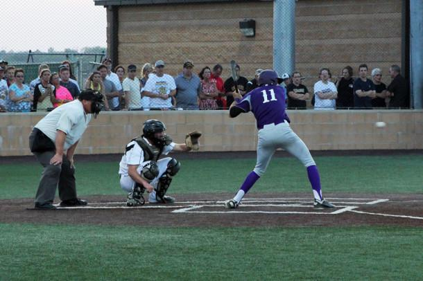 Senior Jace Vessels up at bat against Amarillo High.