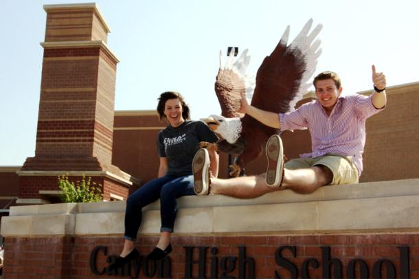Seniors Meagan Taylor and Connor Parker have earned the top academic spots in the 2013 graduating class. Taylor is valedictorian and Parker is salutatorian.