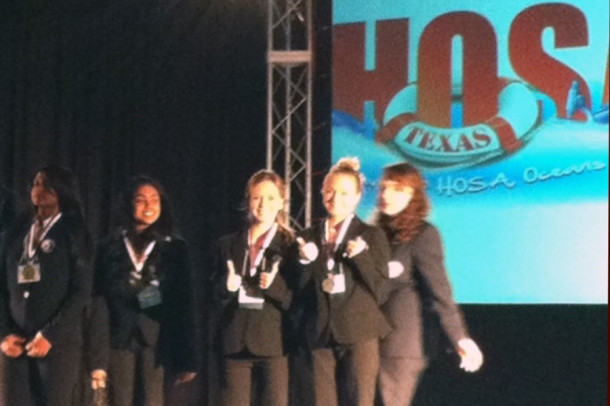 Seniors Emma Green and Lauren Blackburn win second place and the chance to advance to the National HOSA competion.