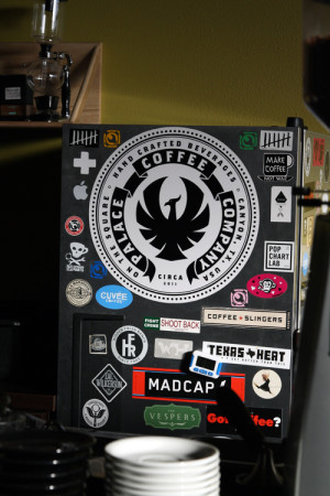 The Palace logo rests proudly front and center on the refrigerator used in the cafe.