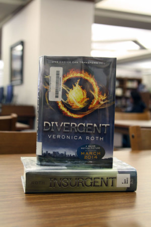 The first and second books of the Divergent trilogy.