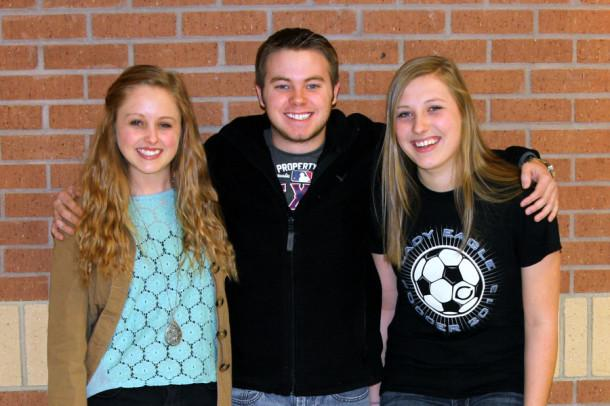 Seniors Morgan Finke, Shane Price and junior Bailey DeBerry qualified for All-State Choirs Jan. 11.