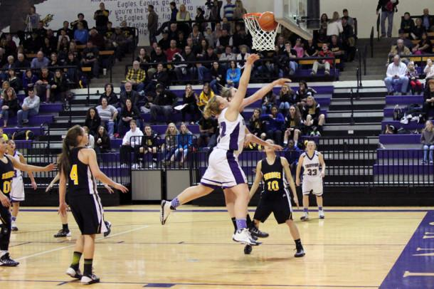 Senior Madison Parker goes up for a lay up against Amarillo High Jan. 31.