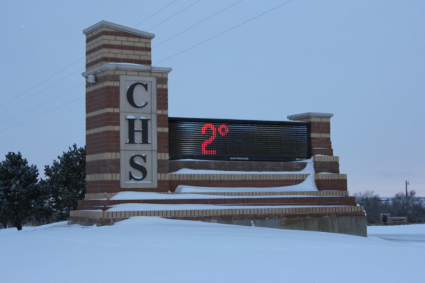 Thursday morning, Feb. 6, was a chilly 2 degrees as students arrived at Canyon High School.