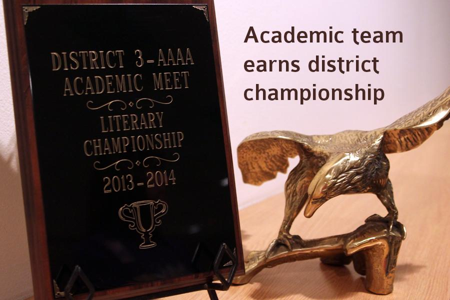 Canyon High School earned the 2014 district 3-AAA academic championship.