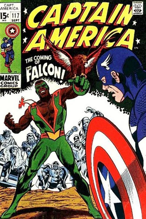 The Falcon first appeared in a green-and-orange ensemble in 1969, which he has since traded in for red-and-white togs. (Courtesy Marvel Entertainment Inc./MCT)