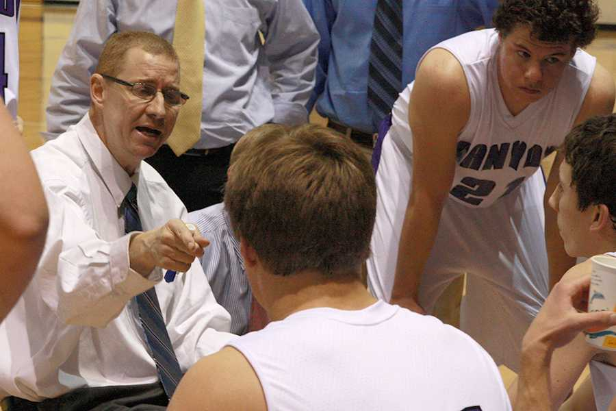 Guy Crenshaw coaches during the Jan. 4, 2013 game a few months after his diagnosis.