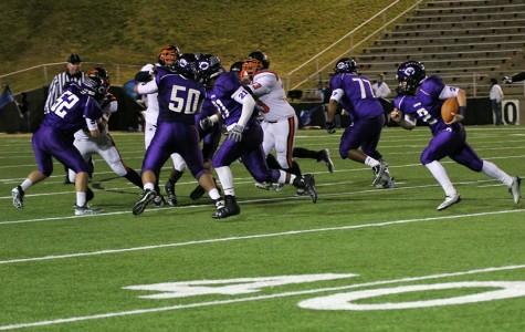 Varsity football defeats Dumas Demons