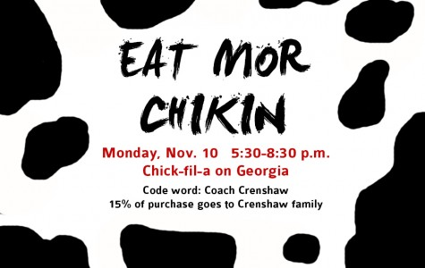 Chick-fil-A fundraiser for Crenshaw family Monday