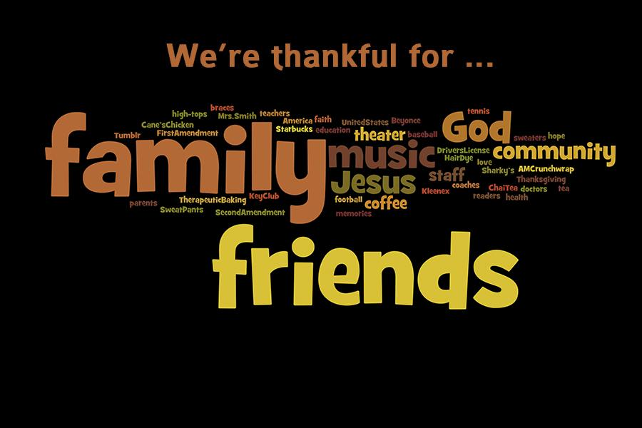 The Eagle's Tale staff is thankful for these things and more.