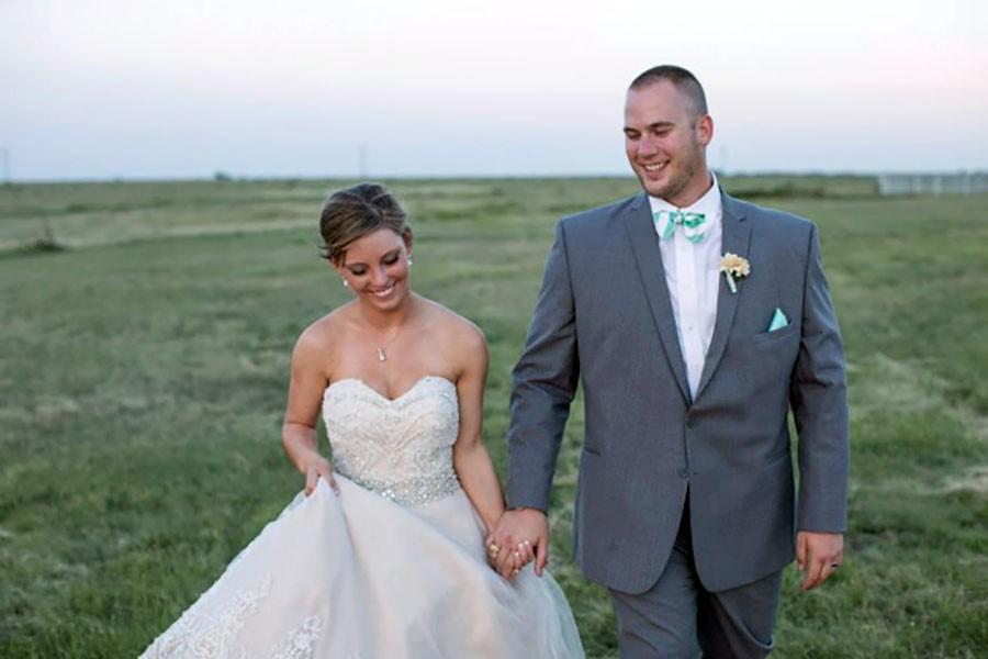 Tatum Peeples and Mike Burdick married last year.