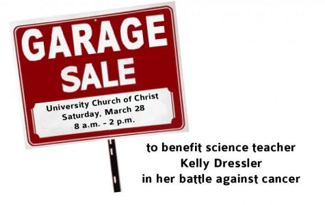 Community garage sale to benefit science teacher