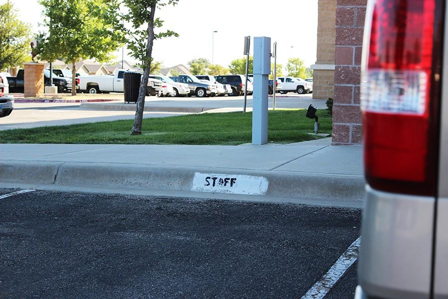 Two new staff parking spots have been added to the north side.
