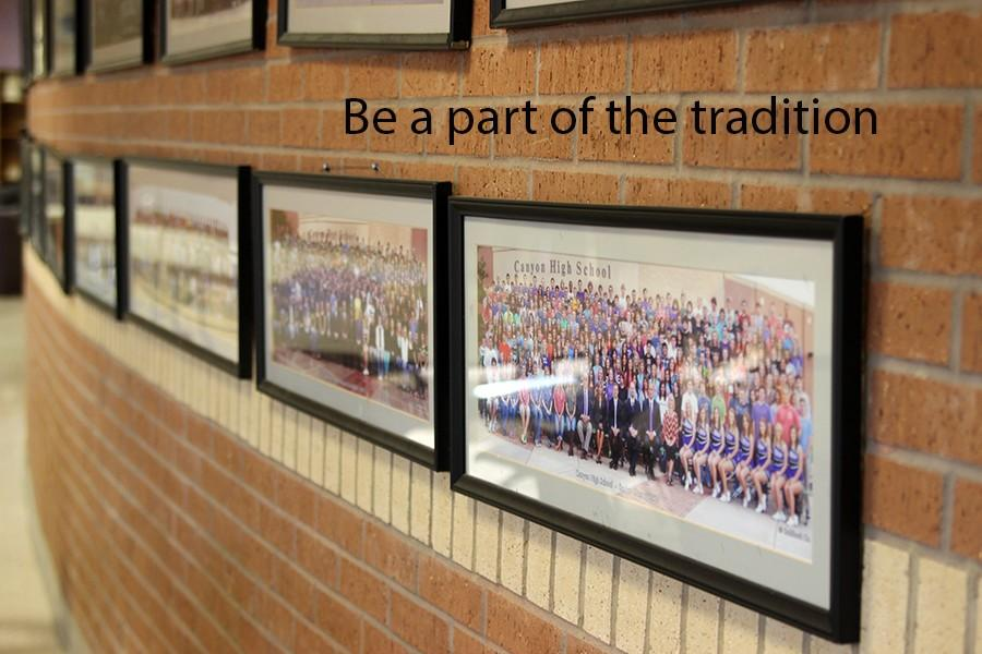 All past senior panoramic pictures are located in the upstairs commons.