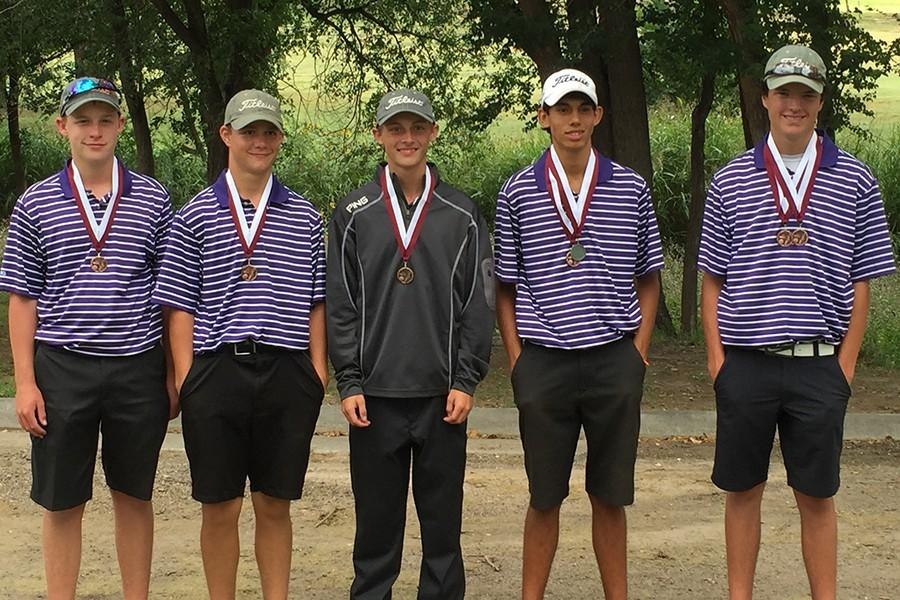 The boys golf team placed third at the Hereford Invitational Tournament, Sept. 11 and 12.