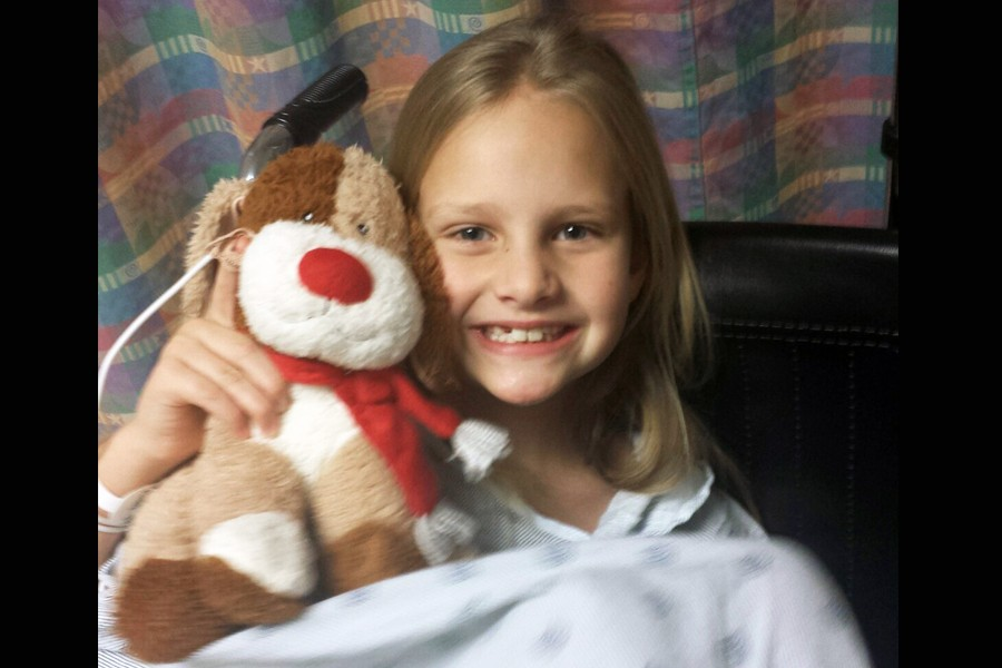 Tatum Schulte in the beginning stages of treatment in early Dec.
