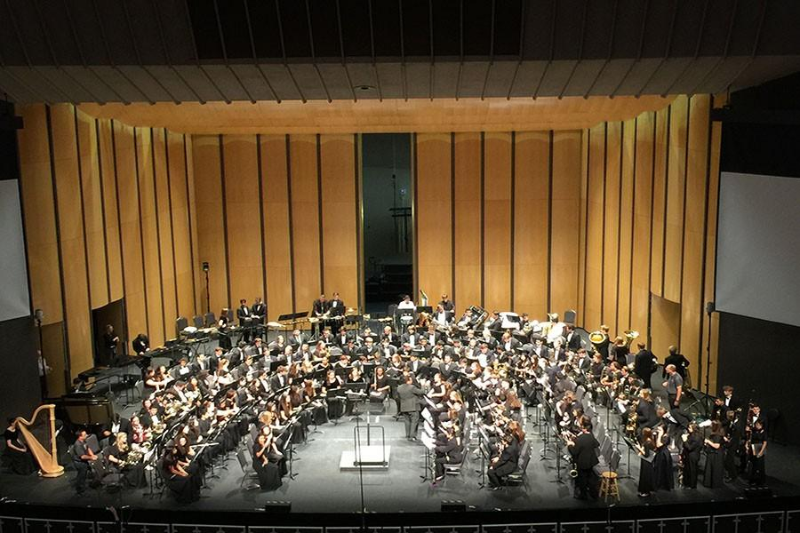 The  5A  All-State Symphonic Band performs in concert.