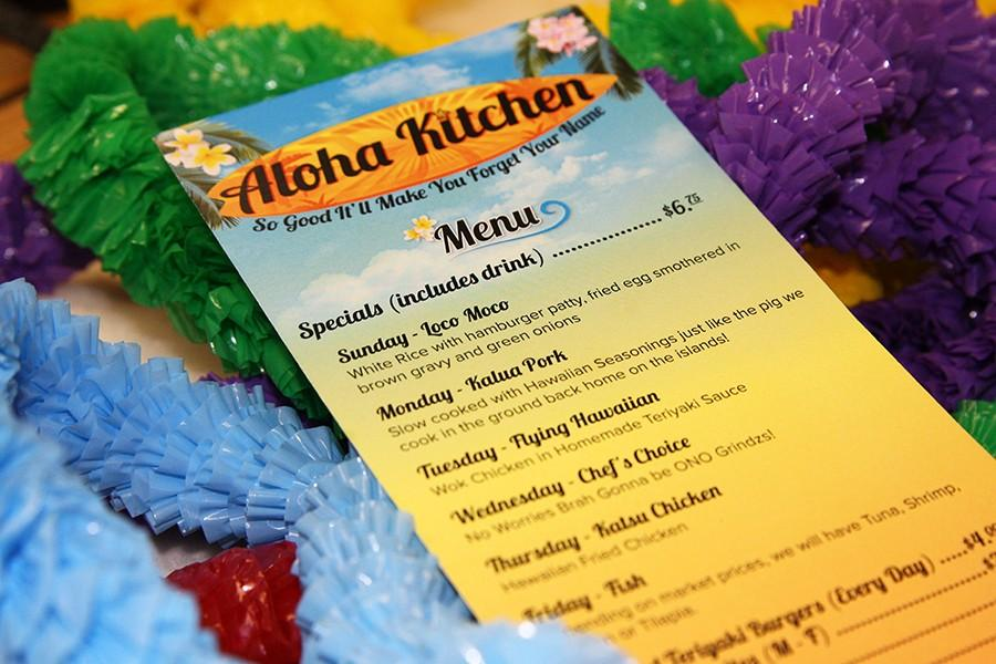 Aloha Kitchen is open Sunday-Friday, serving daily specials, also offering catering.