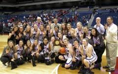 Varsity girls basketball wins third consecutive state championship
