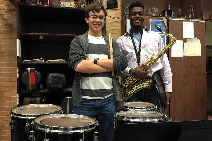 Seniors Ryan Sheffield and Trey Harris will perform at the Region Jazz Band concert 6:30 p.m. March 25.