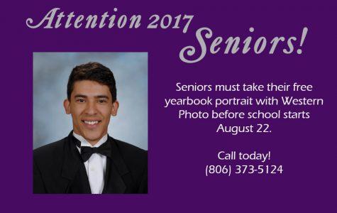 2017 seniors must take yearbook photos during summer