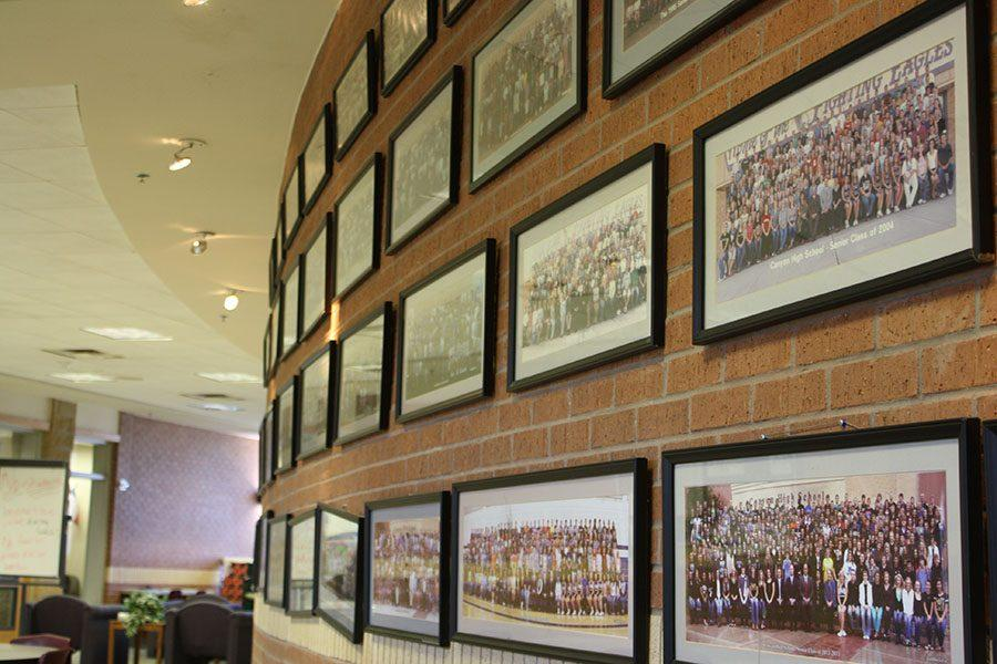 Panoramic Photograph form previous years hang in the upstairs commons.