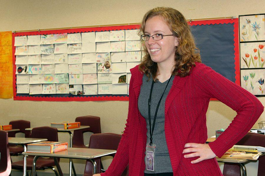 Ellen Ward now teaches in the same classroom where she was once a student.