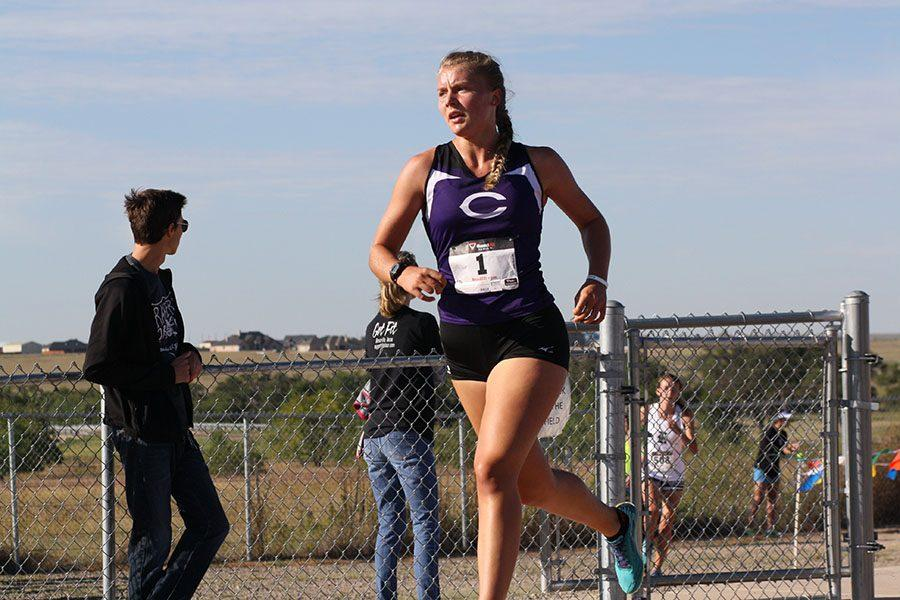 Ayse Allison runs in the Canyon Invitational Cross Country meet Oct. 1.