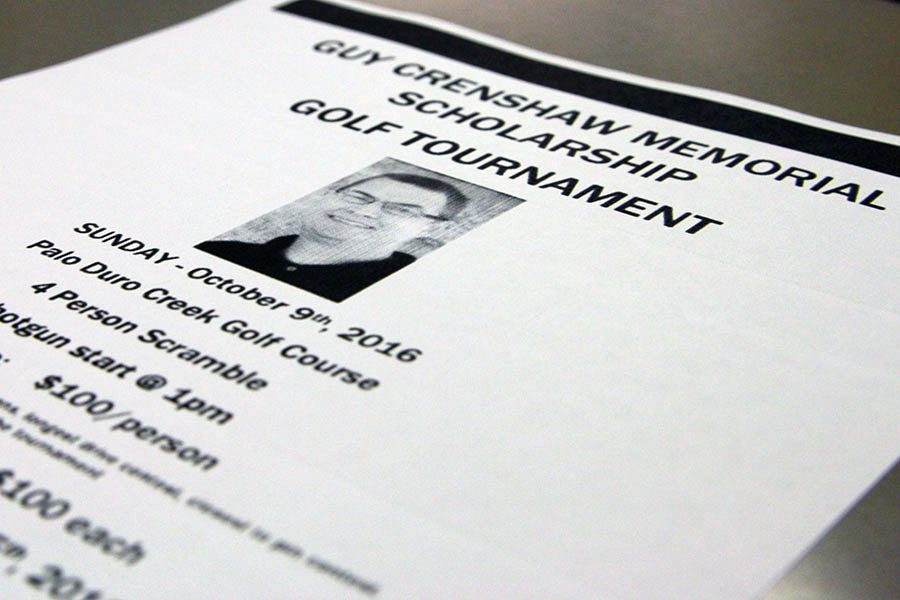 The first annual Guy Crenshaw Memorial  Scholarship Golf Tournament is scheduled for Oct. 9.