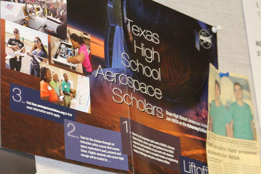 The deadline for juniors to apply for the High School Aerospace Scholars is Oct. 26.