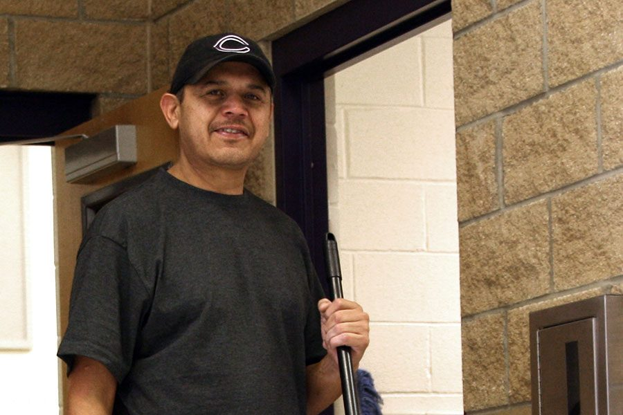 Jose+Martinez+was+named+Staff+Member+of+the+Month+for+November+by+the+LEAD+Council.+Martinez+has+served+as+a+custodian+at+CHS+since+the+new+building+opened+12+years+ago.