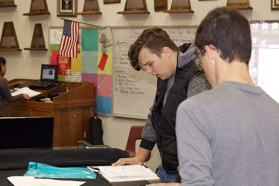 Choir members practice their Pre-Area audition during activity period.