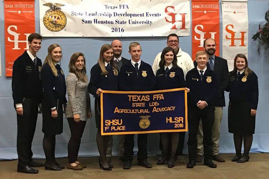 The Agricultural Issues team includes seniors Brynn Owen and Greg Garrison, juniors Macey Thurman and Chloe Kemp and sophomore Hadley Albracht.