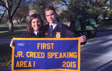 Sophomore FFA member true blue with golden results