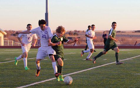 Soccer teams take the field