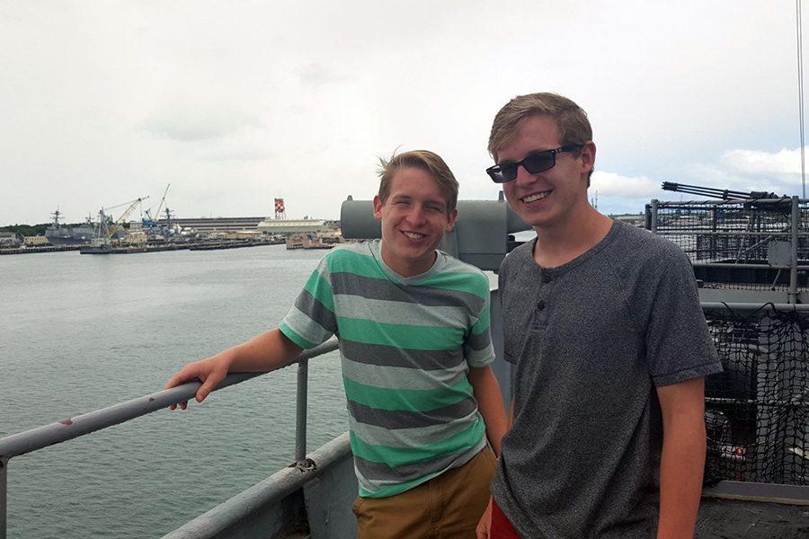 Juniors Justin and Tanner Mahan visit Pearl Harbor.